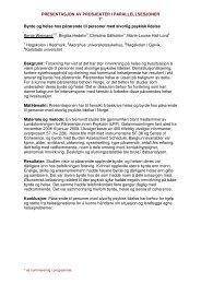 Abstrakter parallellsesjoner - Sykehuset Innlandet HF
