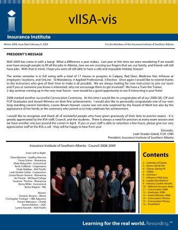 vIISA-vis - Insurance Institute of Canada
