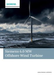 Siemens 6.0 MW Offshore Wind Turbine