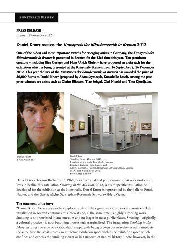 press release_Kunsthalle-Bremen_Kunstpreis-der ...