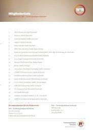 Mitgliederverzeichnis - TechnologieRegion Karlsruhe