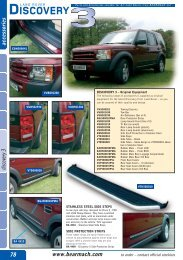 Bearmach Accessories 11th Edition Discovery - max 4x4