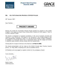 PROJECT AWARD - British Precast