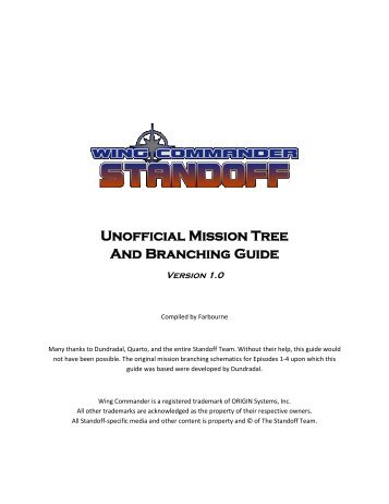 Unofficial Mission Tree And Branching Guide - Wing Commander CIC