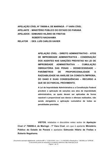 AP 706096-4 - Ministério Público do Paraná