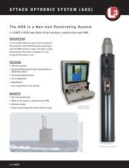 ATTACK OPTRONIC SYSTEM (AOS) - L-3 Communications