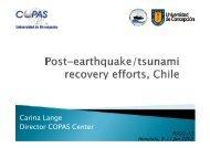 Chilean progress in rebuilding its facilities since the 2010 ... - POGO