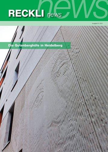 Die Gutenberghöfe in Heidelberg - RECKLI GmbH: Home