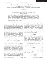 Spatial stochastic resonance in one-dimensional Ising systems