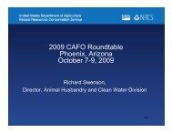 2009 CAFO Roundtable Phoenix, Arizona O tb 7 9 2009 October 7-9 ...