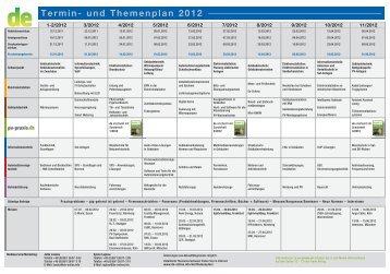Termin- und Themenplan 2012
