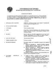 Convocatoria. - Departamento de Física - Universidad de Sonora