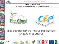Bilan 2010 du service Conseil en Énergie partagé - Pays Midi-Quercy