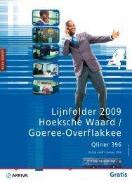 Lijnfolder 2009 Hoeksche Waard / Goeree- Overflakkee - Arriva