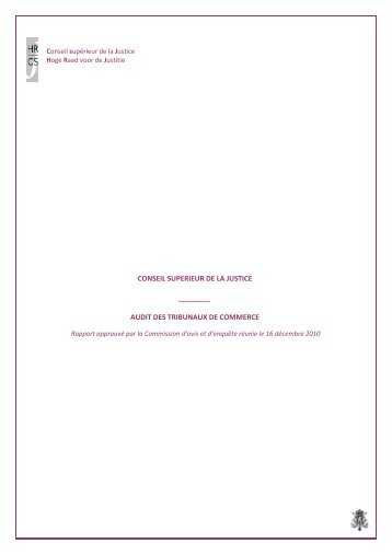 audit des tribunaux de commerce - Juridat