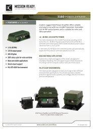 3160 POWER AMPLIFIER - Codan, Ltd.