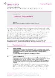 Tests und Auskunftsrecht - Fachgruppe Diagnostik - SDBB
