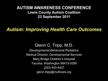Autism: Improving Health Care Outcomes - Pope's Kids Place