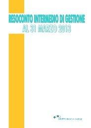 Primo trimestre 2013 - Gruppo Banca Carige