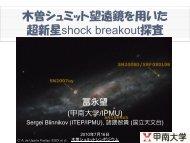 木曽シュミット望遠鏡を用いた超新星shock breakout探査