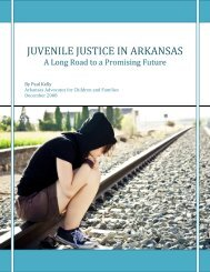 Juvenile Justice in Arkansas - It's Showtime!