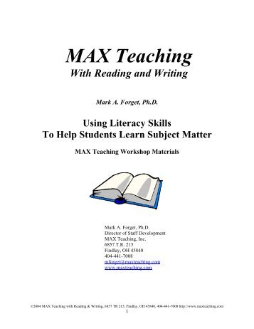 MAX Teaching with Reading and Writing - Ects.org