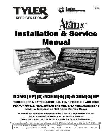 installation service manual ism a5fgn t hillphoenix rh yumpu com Whirlpool Dishwasher Manual Kenmore Elite Dishwasher Manual