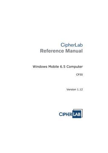 CP30 Mobile Computer - CipherLab