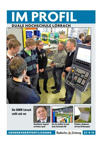 BZ Im Profil 2013 - DHBW Lörrach