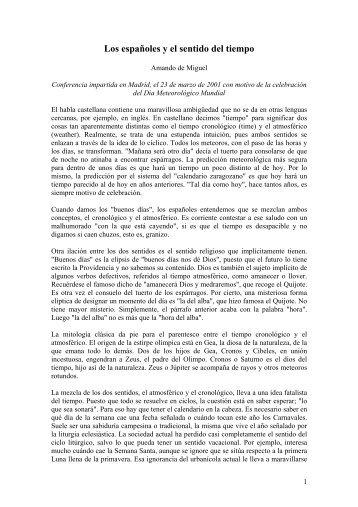 Los españoles y el sentido del tiempo - Divulgameteo