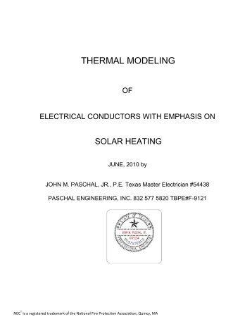 THERMAL MODELING - Copper Development Association