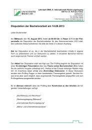 Disputation der Bachelorarbeit am 14.08.2013 - Lehrstuhl für ...