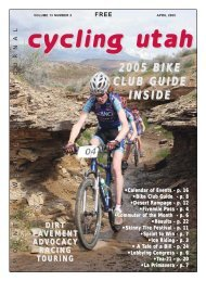 April 2005 Issue - Cycling Utah
