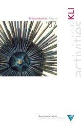 Annual Report 2007 - Konrad Lorenz Institute