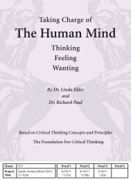 The Human Mind - The Critical Thinking Community