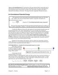 Section 8-4: Gravitational Potential Energy - WebAssign