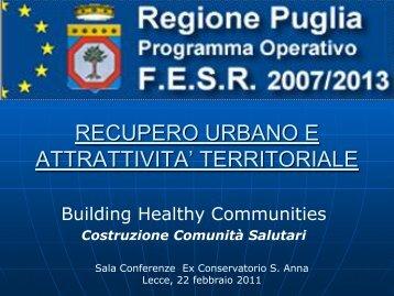 Presentazione REGIONE - Comune di Lecce