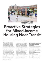 Proactive Strategies for Mixed-Income Housing Near Transit