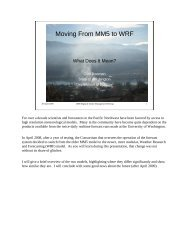 Moving From MM5 to WRF by Clint Bowman (PDF)