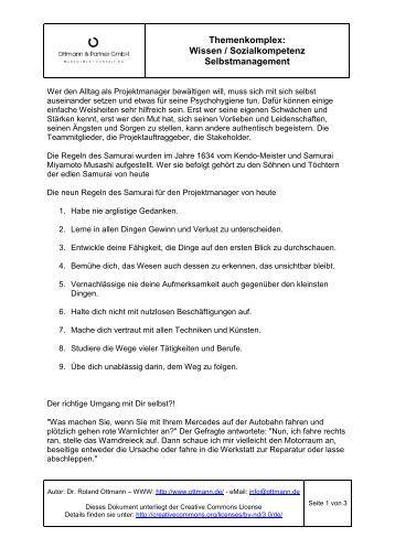 Projektmanagement: Wissen - Sozialkompetenz - Selbstmanagement