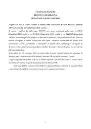 Relazione Consip anno 2009 - Comune di Pianoro