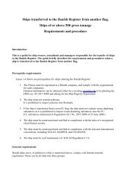 Flag transfer requirements and procedures - Danish Maritime Authority