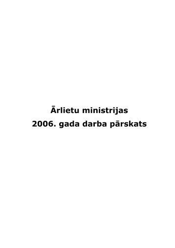 2006 - Latvijas Republikas Ārlietu Ministrija
