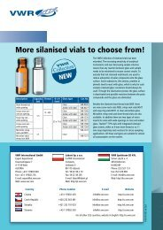 More silanised vials to choose from! - VWR-International GmbH