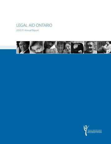2010/2011 Annual Report - Legal Aid Ontario
