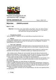 Miljörådet 2008/09 protokoll