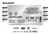 AN-PR1500H Operation-Manual GB - Sharp