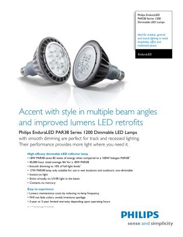 Accent with style in multiple beam angles and ... - Philips Lighting
