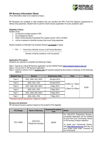 application forms bursaries 2014 for commerce