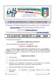 COMUNICATO n.27 del 05/02/2009 - FIGC